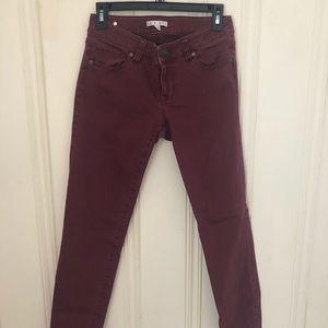 Cabi - Maroon Skinny Pants